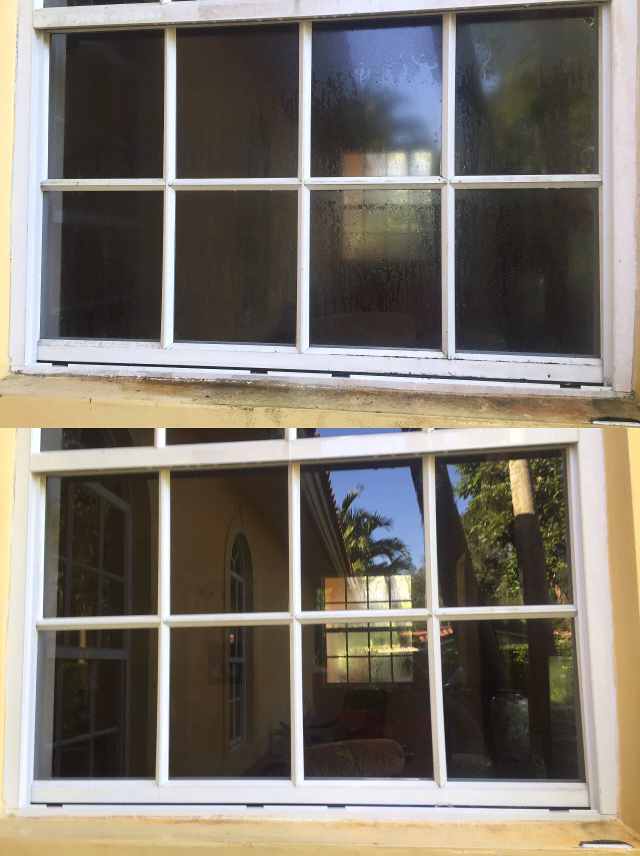 Tharsys WIndow Cleaning LLC Before and After Pics