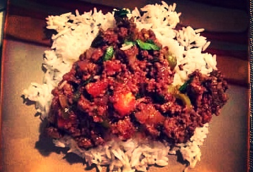 Ground Beef with White Rice