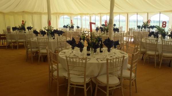 Inside one of our wedding tents