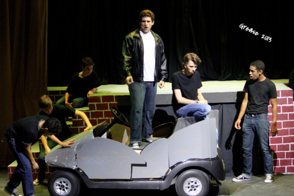 Anthony Certo & Elijah Taylor star as Kenickie & Danny Zuko (& the TBirds) in GREASE 2013...GO Grease Lightnin'!
