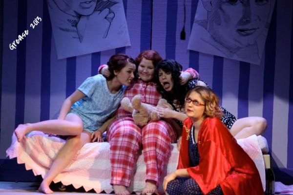 Jessica Sullivan, Courtney Ward, Stephanie VanDyke & Michaela Boltz star as Frenchie, Jan, Rizzo & Marty in GREASE 2013