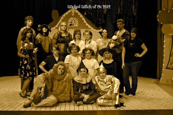Retro WICKED WITCH OF OZ cast photo