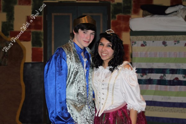 Dalton Willett & Sarena Panatex as Prince Fred III & Princess Philamena in THAT'S PRINCESS...WITH A PEA! 2012