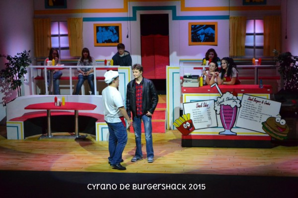 Ryan Dilbeck & Spencer Murphy star as Pickles & Christian in CYRANO DE BURGERSHACK 2015