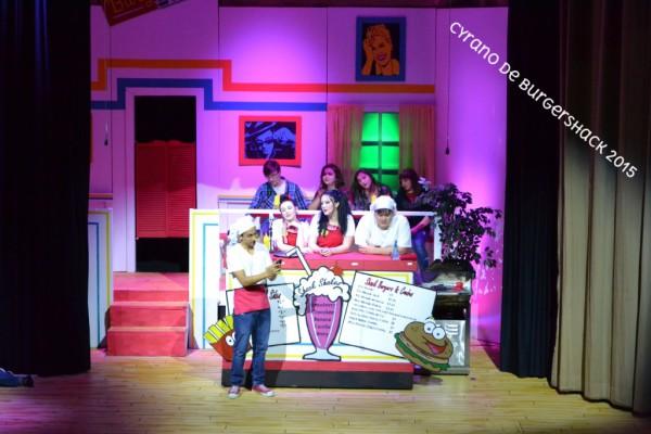 Stefan Panatex, Kayla Gregory, Shelby Schreier & Ryan Dilbeck star as the Burger Shack Crew in CYRANO DE BURGERSHACK