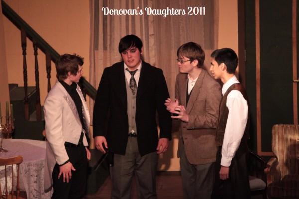 Dalton Willett, Eli Curtsinger, David Spring & Conner Trujillo are the men of Seattle in DONOVAN'S DAUGHTERS 2011