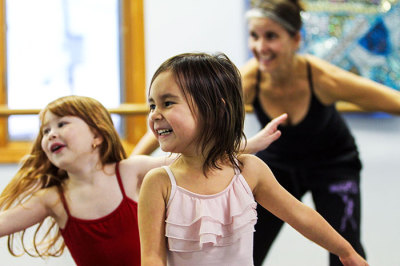 young girls at a creative movement class