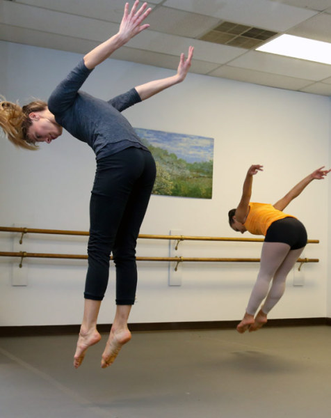young dance students at a contemporary dance class