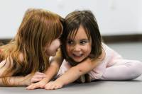 Two little girls at Creative Movement class at Ballet Arts New Jersey
