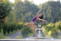 A Ballet Arts student posing at a park in Emerson New Jersey