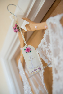 Handmade decorates wedding coat hanger for brides dress