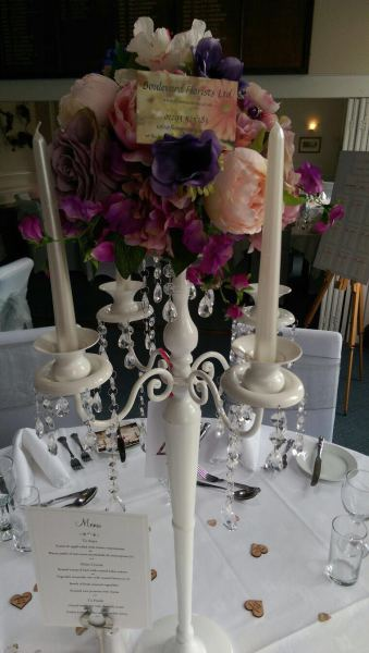 Candelabra with flowers - Ham Manor