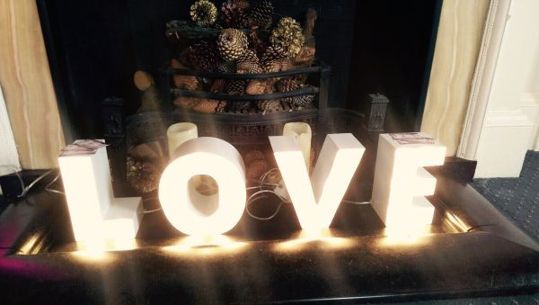 Light up L O V E letters - Ham Manor