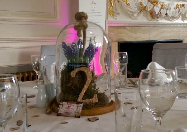 Cloche table centerpiece - Ham Manor