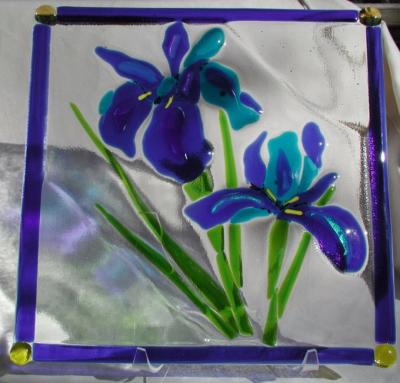 Blue Iris Plate