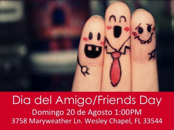 Celebrando Dia del Amigo