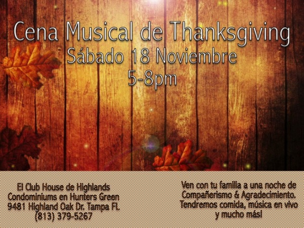 Cena Musical de     Thanksgiving