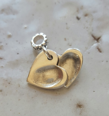 Fingerprint heart Charm
