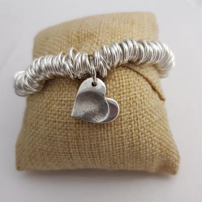 Sweetie Bracelet with Fingerprint Charm