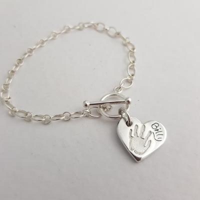 Belcher Charm Bracelet with handprint charm