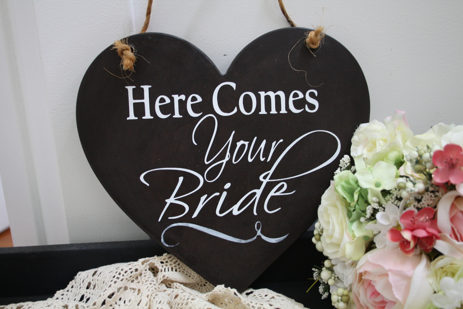 Here Comes your Bride Sign to rent
