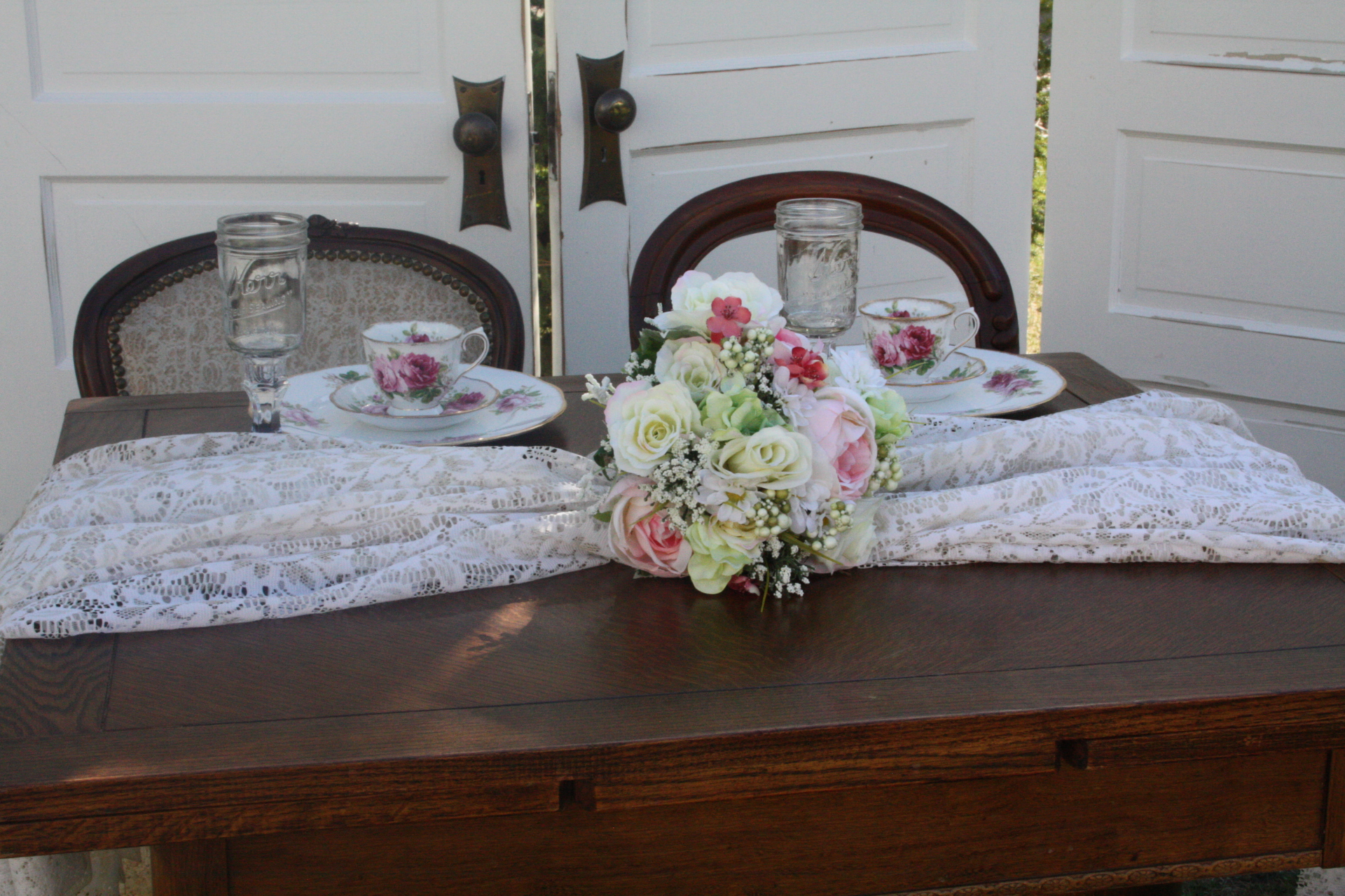 rent antique sweetheart table wedding Edmonton Stagecoach