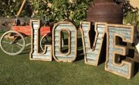 rent LOVE letters Edmonton wedding decor
