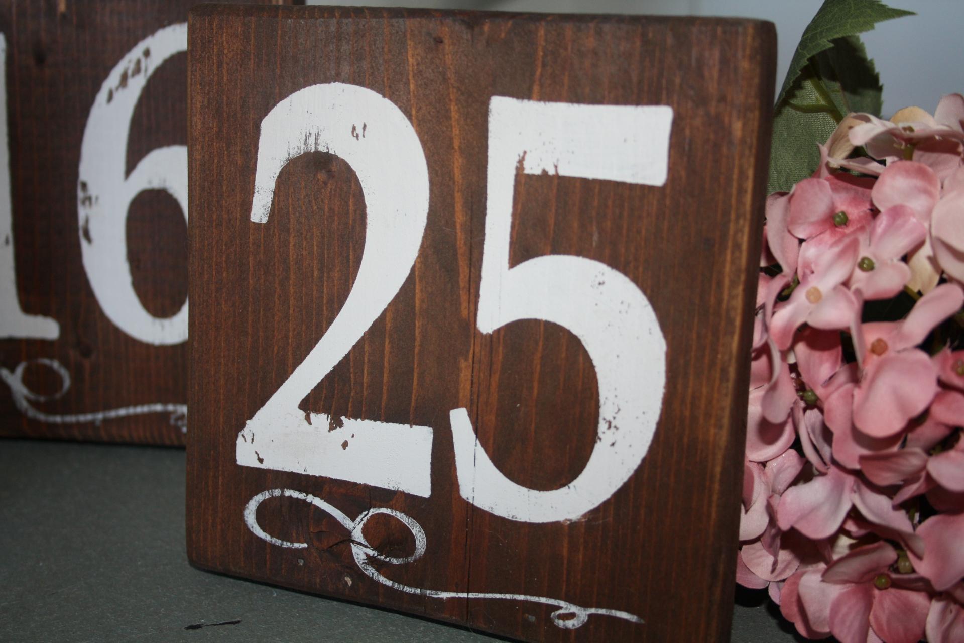 rent rustic table numbers wedding Edmonton
