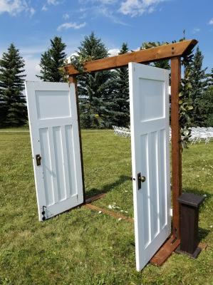 Rent ceremony entrance doors vintage white customizable