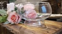 rent glass fish bowl vase centerpiece
