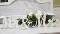 rent MR & MRS sign headtable decor