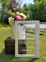 rent antique window wedding sign