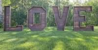 rent large LOVE letters wedding decor rentals Edmonton