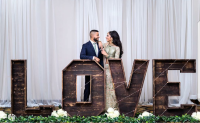 Rent large rustic LOVE letters