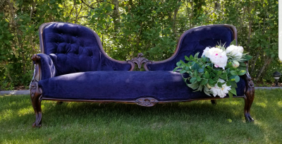 Antique Gold sofa to rent in Edmonton
