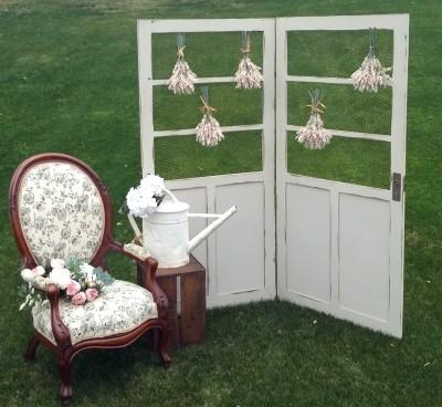 rent unique antique garden doors for small backdrop
