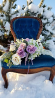 Rent blue antique chair