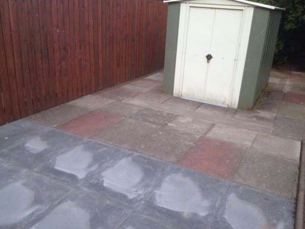 Slab patio.