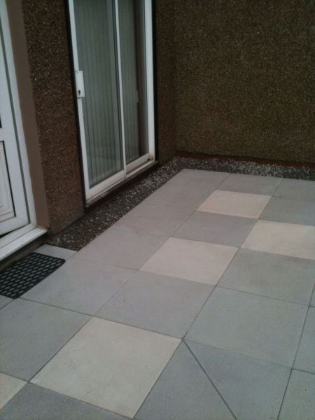 Slab patio