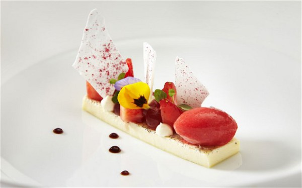 Stawberry assiette