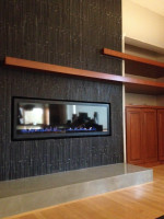 home remodel, concrete fireplace