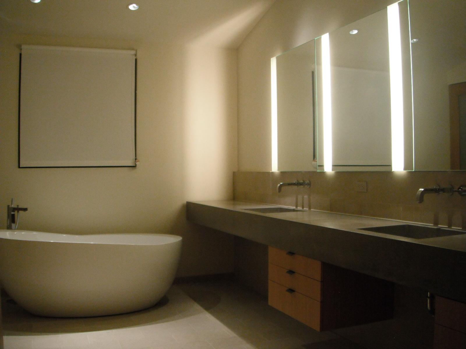 bathroom remodeling, concrete sinks