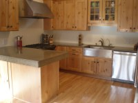 kitchen remodel, concrete countertops