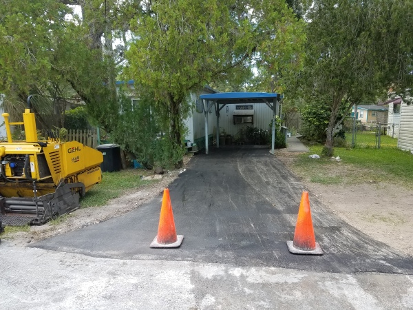 New Asphalt Residential Driveway After