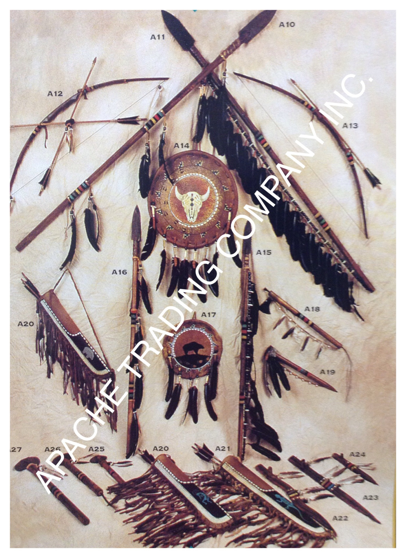Native American Handcrafted Artifacts.