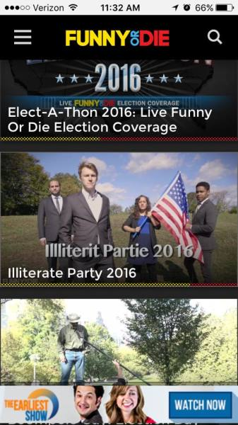 Illiterate Party 2016 on the front page of FoD