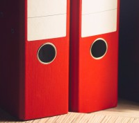 2 Red Arch Lever Folders
