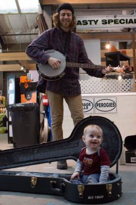 Busking for babies