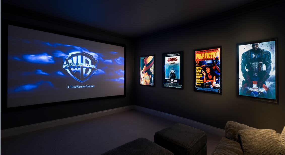 LED Backlit Display Light Box in Cinema Room
