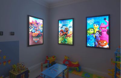 LED Backlit Light box in Kids Playroom